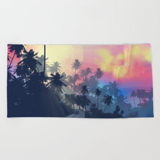 summer palms Beach Towel