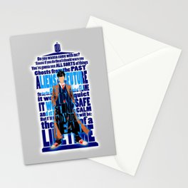 Time Traveller Quotes Typograph Stationery Cards