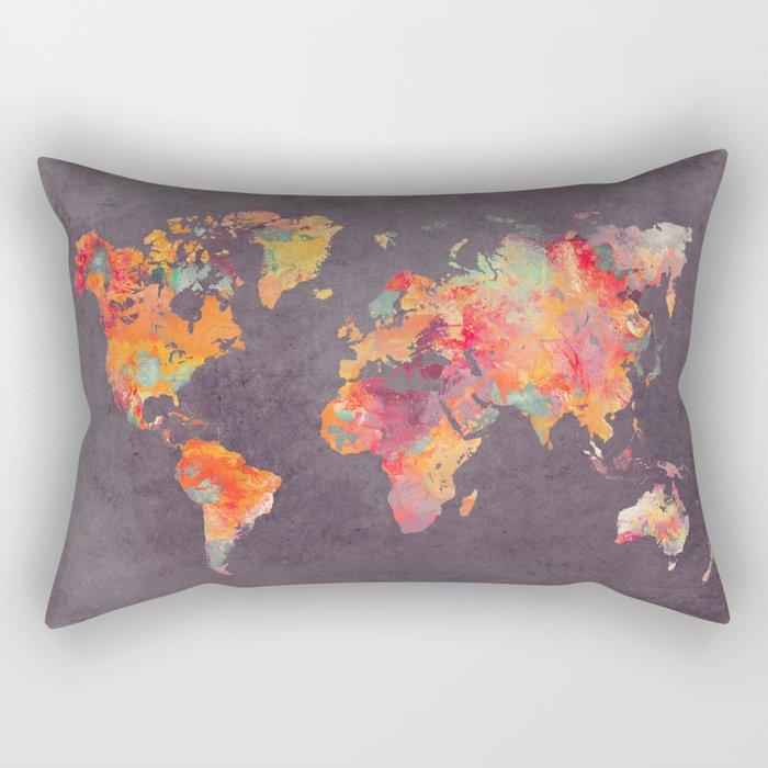 world map 67 Rectangular Pillow