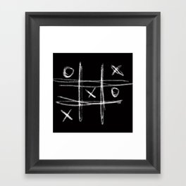 Tic-tac-toe Morpion Framed Art Print