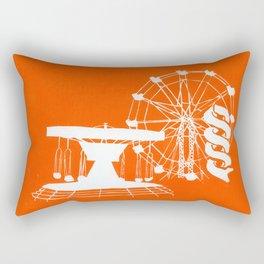 Seaside Fair in Orange Rectangular Pillow
