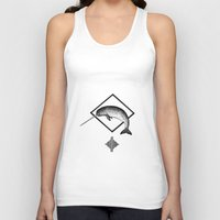 narwhal Tank Tops featuring Narwhal by Destiny Von Brandt