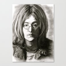 John in Black and White Canvas Print