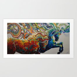 EGO SOM VICTOR Art Print
