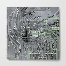 Agender Pride Computer Circuits Design Metal Print