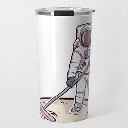 Patriotic USA Proud Astronaut Moon design Gift Travel Mug