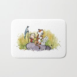 Calvin And Hobbes mapping Bath Mat