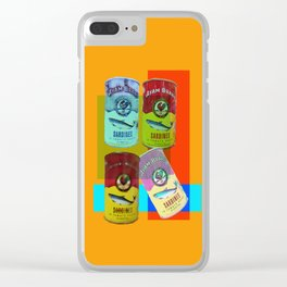 CANNED SARDINE Clear iPhone Case