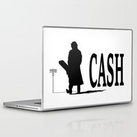 johnny cash Laptop & iPad Skins featuring CASH by shannon's art space