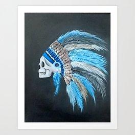 Native Indian Skull Art Print