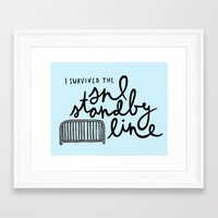 snl Framed Art Prints featuring SNL Standby by Liana Spiro