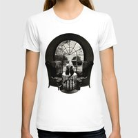 ali T-shirts featuring Room Skull B&W by Ali GULEC