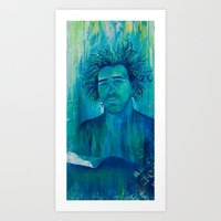 salt water Art Prints featuring Salt Water Soul by Sophia Buddenhagen