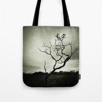 alone Tote Bags featuring ALONE by Christina Lynn Williams