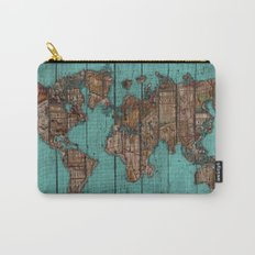 Wood Map Carry-All Pouch