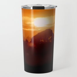 Sunset on the wild forest in the Andes Mountains Travel Mug