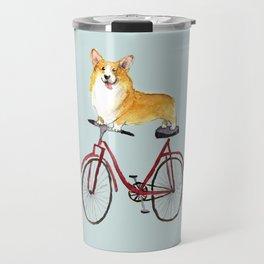 Look Mom No Hands Cycling Corgi Travel Mug