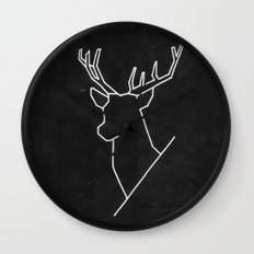Geometric Deer Wall Clock