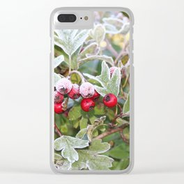 Winter Berries Clear iPhone Case