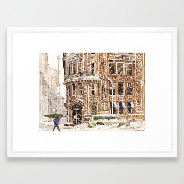 Winter in NYC Framed Art Print by takmaj   Society6
