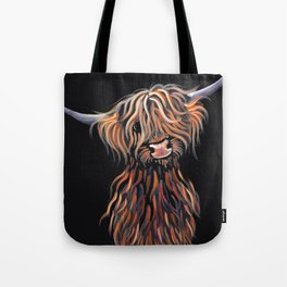 Scottish Highland Cow ' WEE MAC ' by Shirley MacArthur Tote Bag