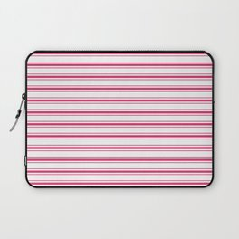 Bright Pink Peacock Mattress Ticking Wide Striped Pattern - Fall Fashion 2018 Laptop Sleeve