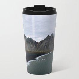 Iceland Mountain Beach Sunrise - Landscape Photography Travel Mug