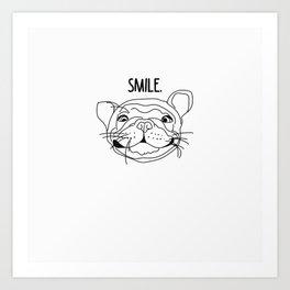 Smile - Frenchie Art Print