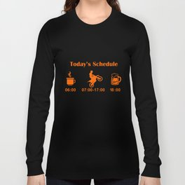 Ktm Todays Schedule Bike Motorcycle   t-shirts Long Sleeve T-shirt