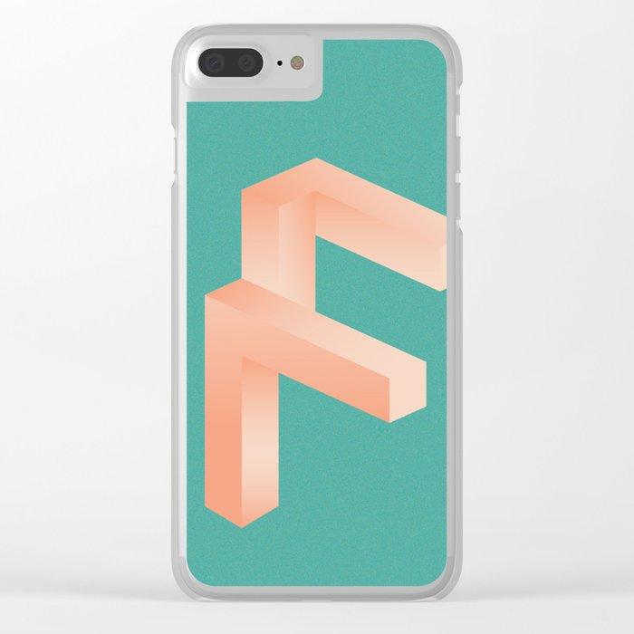 Futuristic F Clear iPhone Case