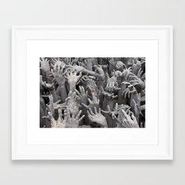 Rebel hand Framed Art Print
