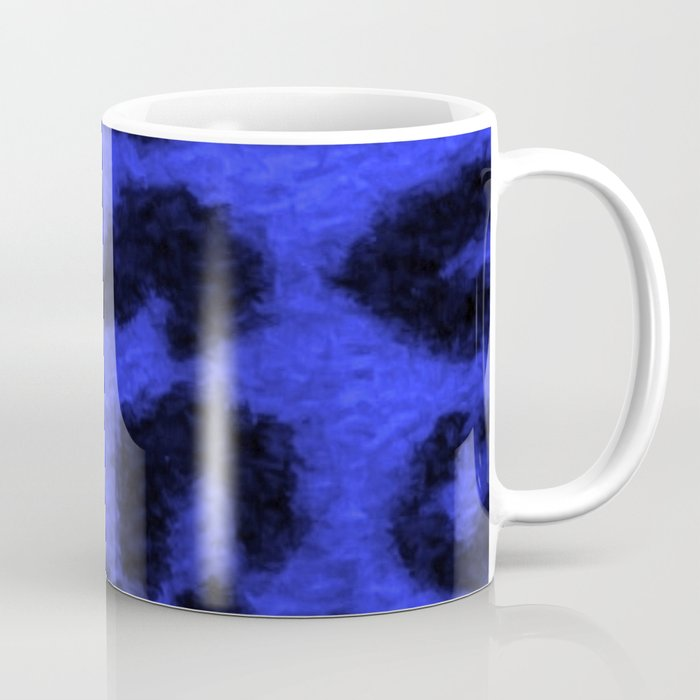 Spotted Leopard Print Blue Coffee Mug