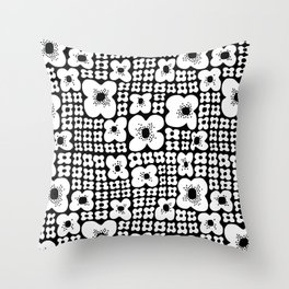 Just Flowers Bunch Throw Pillow