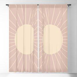 Minimal Sunrays - Neutral Pink Blackout Curtain