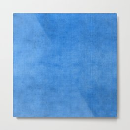 """Exotic Moroccan Indigo Blue Burlap Texture"" Metal Print"