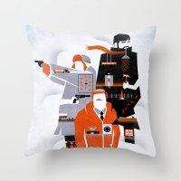 fargo Throw Pillows featuring Fargo TV Series Poster by Take Heed