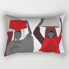 Women return from the market  Rectangular Pillow