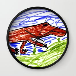 Komodo Dragon Wall Clock