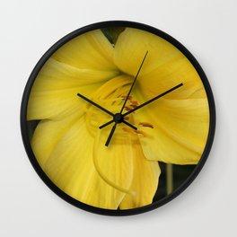Yellow Daffodil Wall Clock