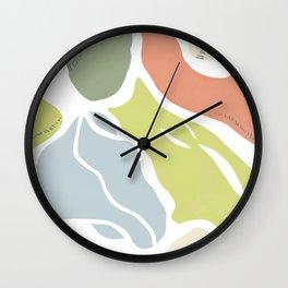 Organic Shapes Abstract Wall Clock