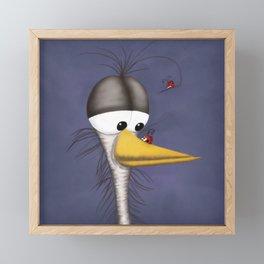 Ernie the Naked Egret and his Visitors Framed Mini Art Print