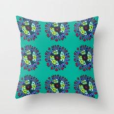 Cara Blue Repeat Throw Pillow