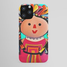 Mexican Maria Doll (turquoise) iPhone Case