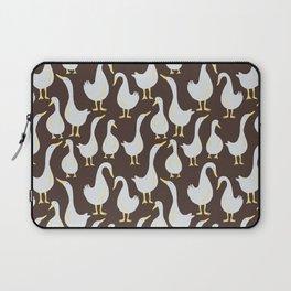 Geese On Brown Laptop Sleeve