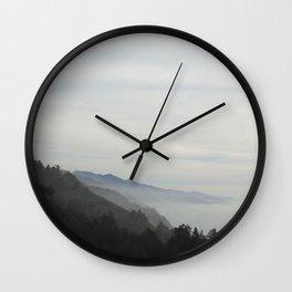 Misty Mountain Hop Wall Clock