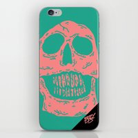 skulls iPhone & iPod Skins featuring skulls by Mike Bauer