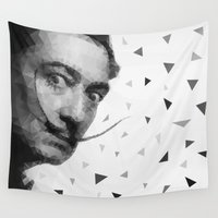 salvador dali Wall Tapestries featuring Dali triangles by Veronika