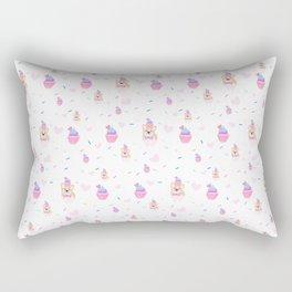 cupcake and corgi Rectangular Pillow