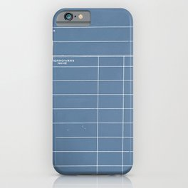 Library Card BSS 28 Negative Blue iPhone Case