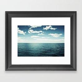 "Ocean Sky Photography, Sea Horizon Photographs, Blue Calming Seasape Print, ""The Spell of the Sea"" Framed Art Print"